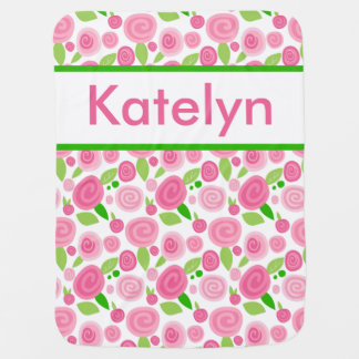 Katelyn's Personalized Rose Blanket