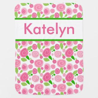 Katelyn's Personalized Rose Blanket Pramblankets
