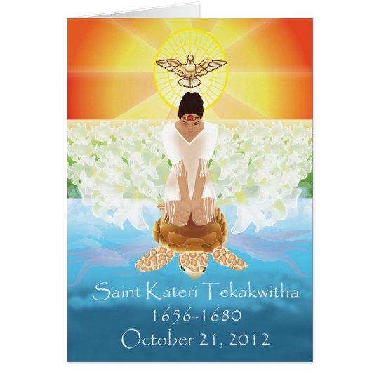 Kateri Tekakwitha Card