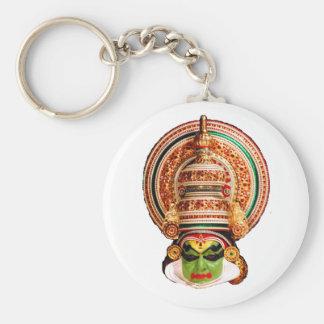 Kathakali dance printed basic button key chain