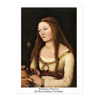 Katharina Schwarz By Hans Holbein The Elder Postcard