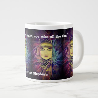 Katharine Hepburn - Inspirational Feminism Quote Large Coffee Mug