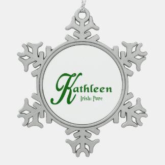 Kathleen Snowflake Pewter Christmas Ornament