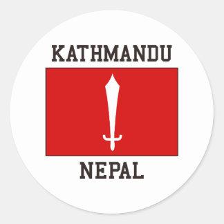 Kathmandu Nepal Round Sticker