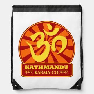 Kathmandu New Age and Buddhist Om Symbol Drawstring Backpack