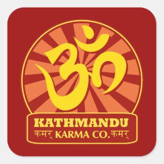 Kathmandu New Age and Buddhist Om Symbol Square Stickers