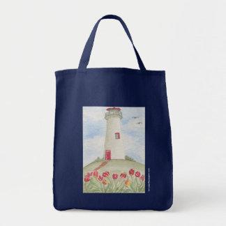Kathy Faggella Lighthouse Roses Tote Bag