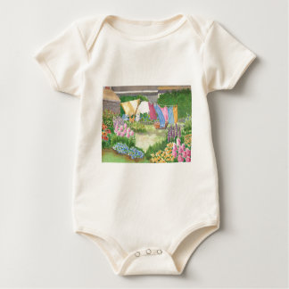 Kathy's Laundry on Monhegan Baby Body Suit Baby Bodysuit