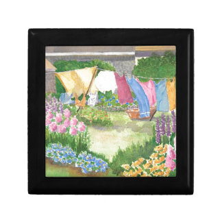 Kathy's Laundry on Monhegan Is Maine Small Tile Small Square Gift Box