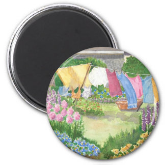 Kathy's Laundry on Monhegan Island Maine Button Magnet