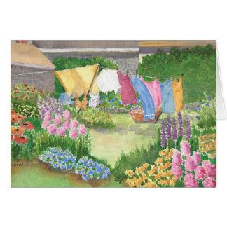 Kathy's Laundry on Monhegan Island Maine Watercolo Card