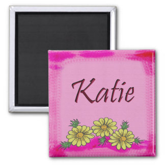 Katie Daisy Mug Square Magnet