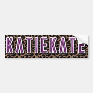 KatieKate Sticker Bumper Sticker