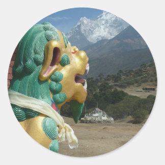 Katmandu, Nepal Round Sticker