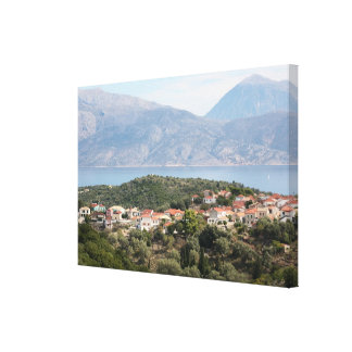 Katomeri, Meganissi, Greece Canvas Print