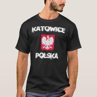 Katowice, Polska, Poland with coat of arms T-Shirt