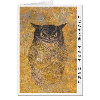 Katsuda Yukio Owl japanese oriental fine art Greeting Card