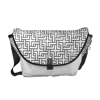 Katsunagi Japanese Pattern Messenger Bag B