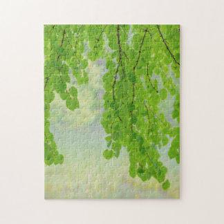 Katsura Tree Limbs in Springtime | Seabeck, WA Jigsaw Puzzle