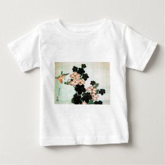 Katsushika Hokusai (葛飾北斎) - Hibiscus and Sparrow Baby T-Shirt