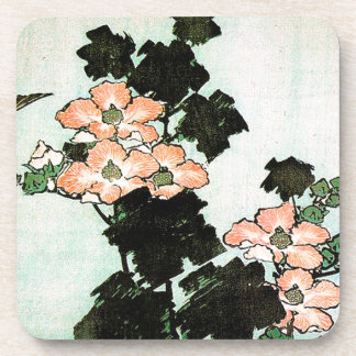 Katsushika Hokusai (葛飾北斎) - Hibiscus and Sparrow Beverage Coaster