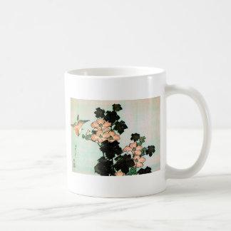 Katsushika Hokusai (葛飾北斎) - Hibiscus and Sparrow Coffee Mug