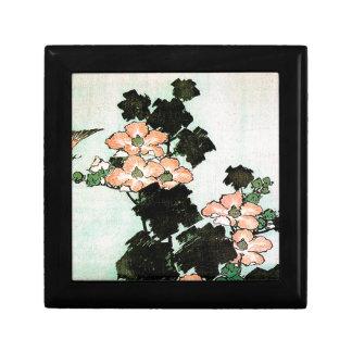 Katsushika Hokusai (葛飾北斎) - Hibiscus and Sparrow Gift Box