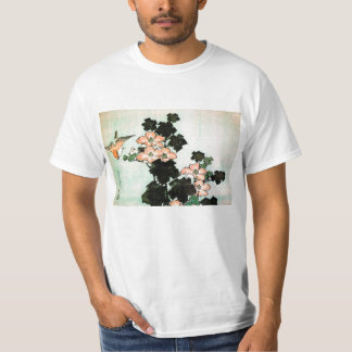 Katsushika Hokusai (葛飾北斎) - Hibiscus and Sparrow T-Shirt
