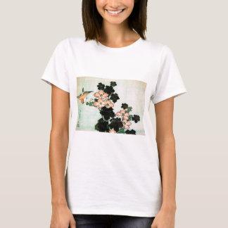 Katsushika Hokusai (葛飾北斎) - Hibiscus and Sparrow T-Shirt