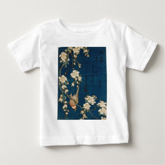 Katsushika Hokusai 葛飾 北斎 Goldfinch and Cherry Tree Baby T-Shirt