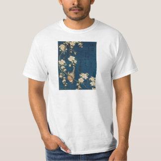 Katsushika Hokusai 葛飾 北斎 Goldfinch and Cherry Tree T-Shirt