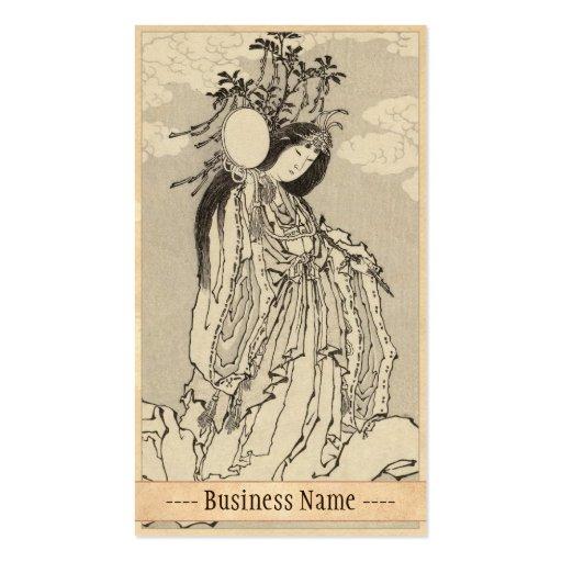 Katsushika Hokusai Goddess Konohana Sakuya Hime Business Card