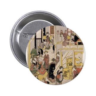 Katsushika Hokusai New Year s Day Teahouse Ogi-ya Pin