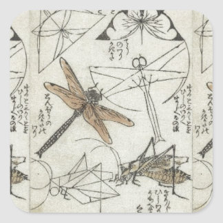 Katsushika Hokusai's Insects Square Sticker