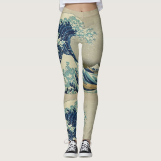 Katsushika Hokusai The Great Wave Leggings
