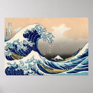 KATSUSHIKA HOKUSAI - The great wave off Kanagawa Poster