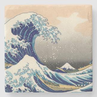 KATSUSHIKA HOKUSAI - The great wave off Kanagawa Stone Coaster
