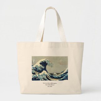 Katsushika Hokusai's Great Wave off Kanagawa Jumbo Tote Bag