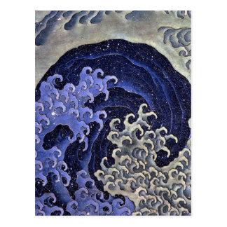 Katsushika north 斎, Feminine-wave Postcard