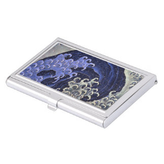 Katsushika north 斎 'woman 浪 (me average)', Hokusai Business Card Cases