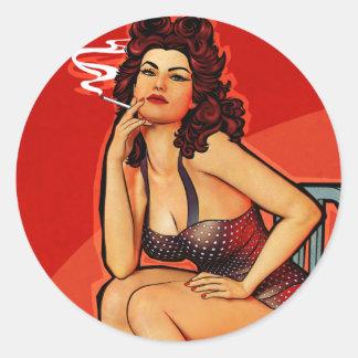 Katy Classic Round Sticker