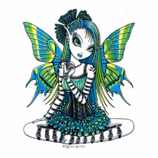 """Katy"" Green Tattoo Faerie Art Photo Sculpture"