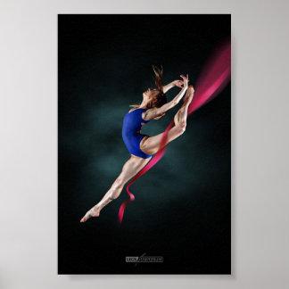 Katya's Ballerina Jump Pin Up Poster