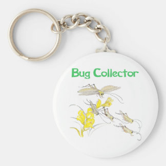 Katydids Bug Collector Basic Round Button Key Ring