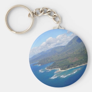 Kauai Coast Basic Round Button Key Ring
