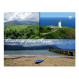 Kauai, Hawaii, Hanalei Bay, Kilauea Lighthouse Postcard