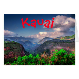 Kauai Hawaii Tropical Mountain Range Card