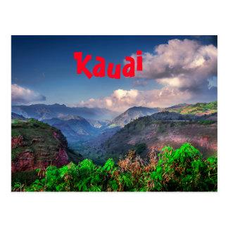 Kauai Hawaii Tropical Mountain Range Postcard