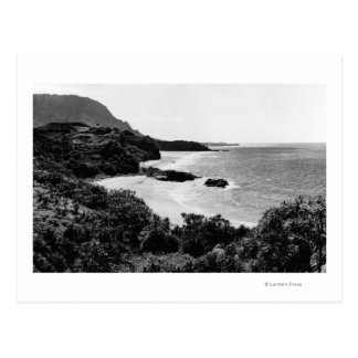 Kauai, Hawaii - View of Lumahai Bay & Beach Postcard