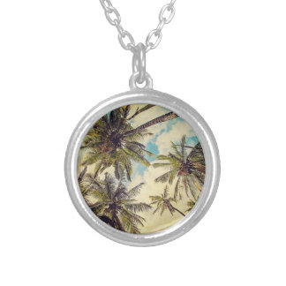 Kauai Hawaii Vintage Coco Palm Tree Necklace